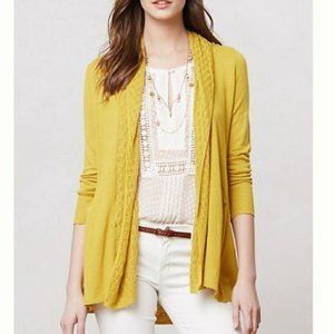 Angel of the North Yellow Open Front Cardigan M
